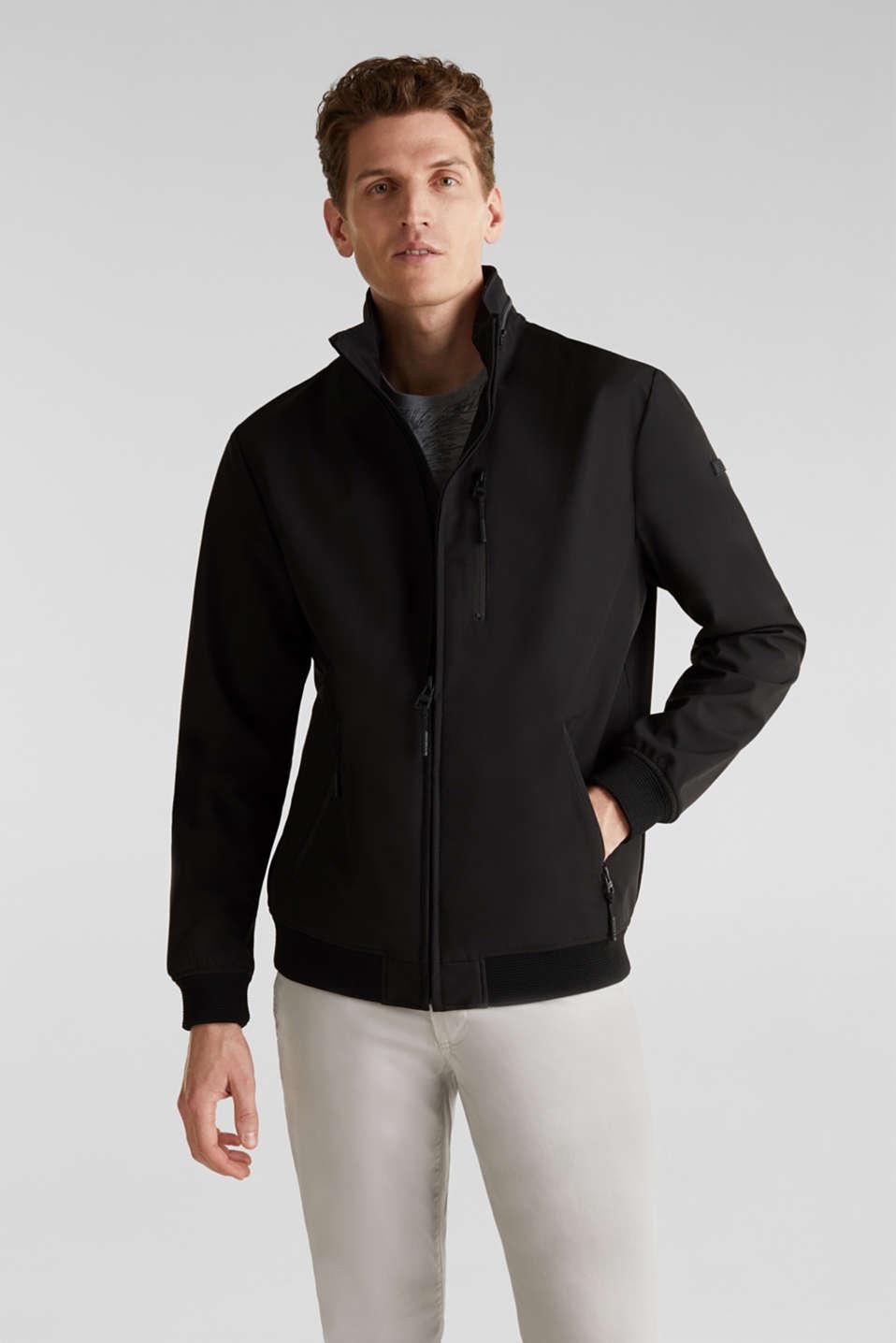 Outdoor jacket with an adjustable hood, BLACK, detail image number 0