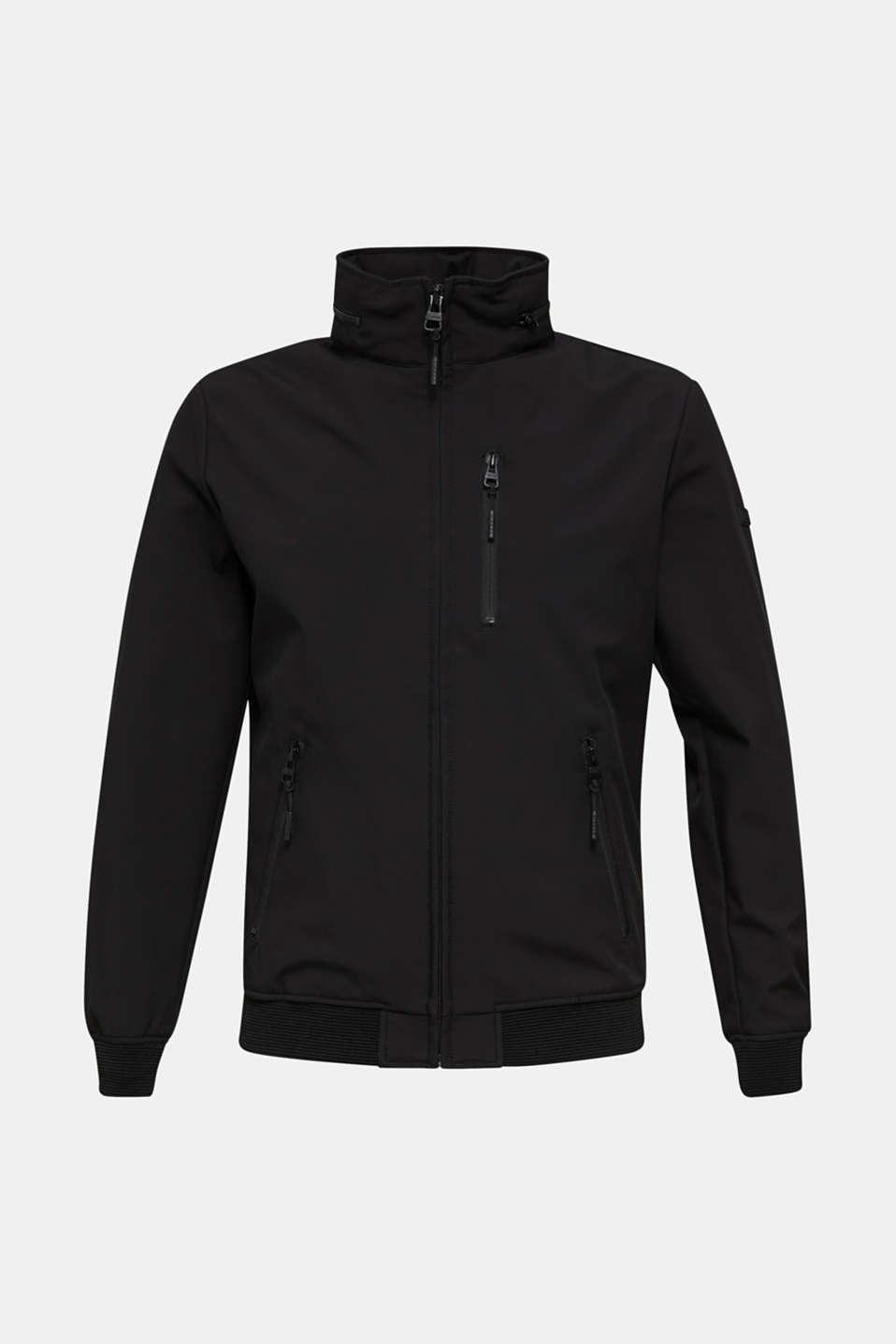 Outdoor jacket with an adjustable hood, BLACK, detail image number 8