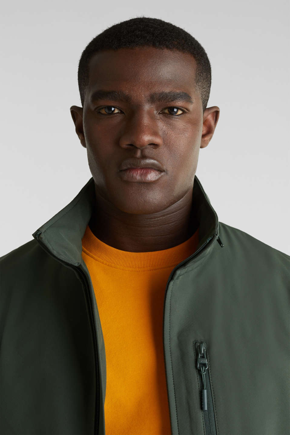 Outdoor jacket with an adjustable hood, KHAKI GREEN, detail image number 5