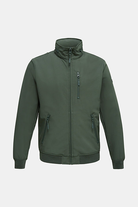 Outdoor jacket with an adjustable hood