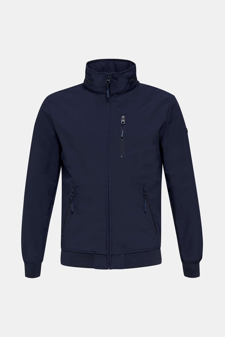 Outdoor jacket with an adjustable hood, DARK BLUE, detail image number 8