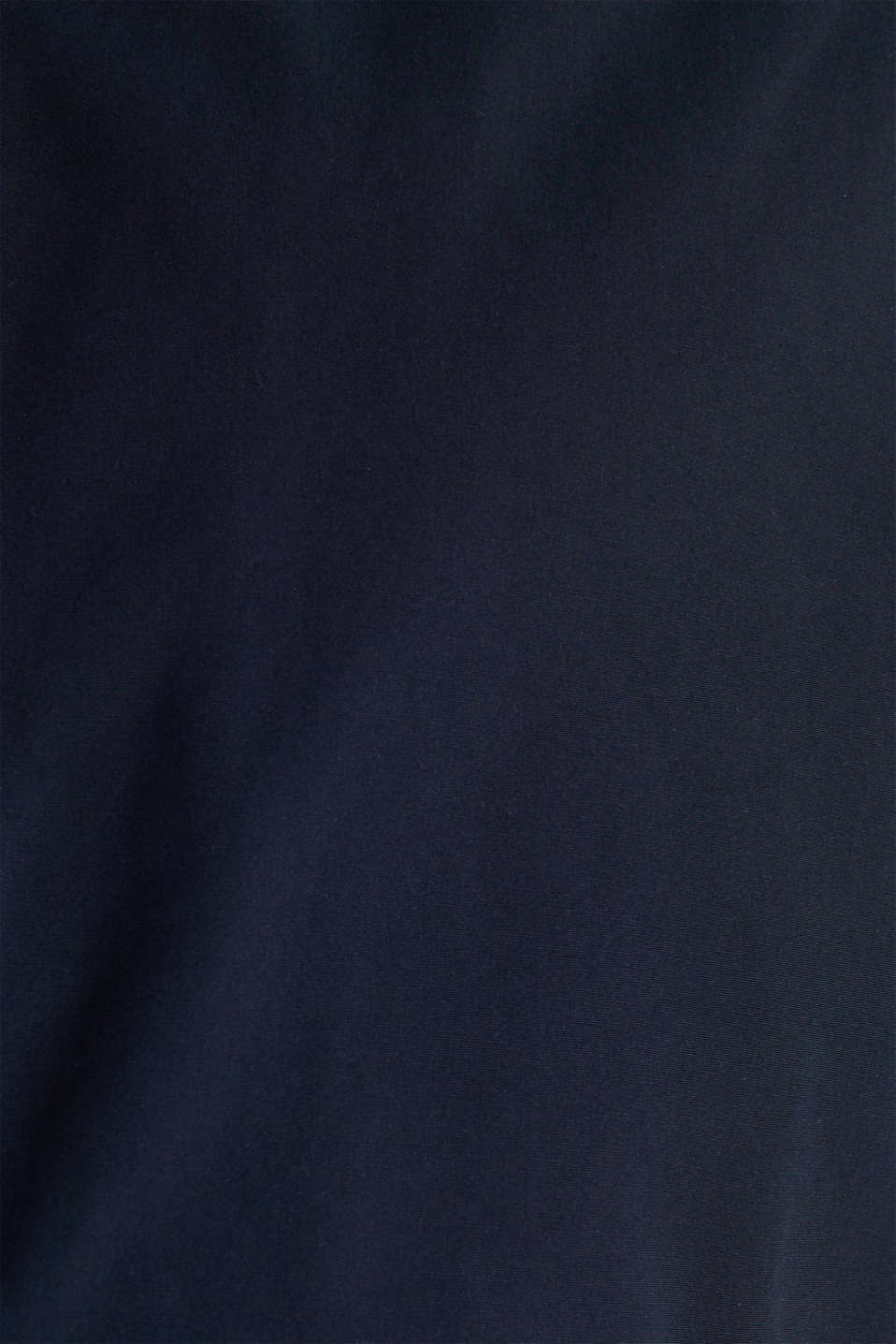 Bomber jacket with checked lining, DARK BLUE, detail image number 4