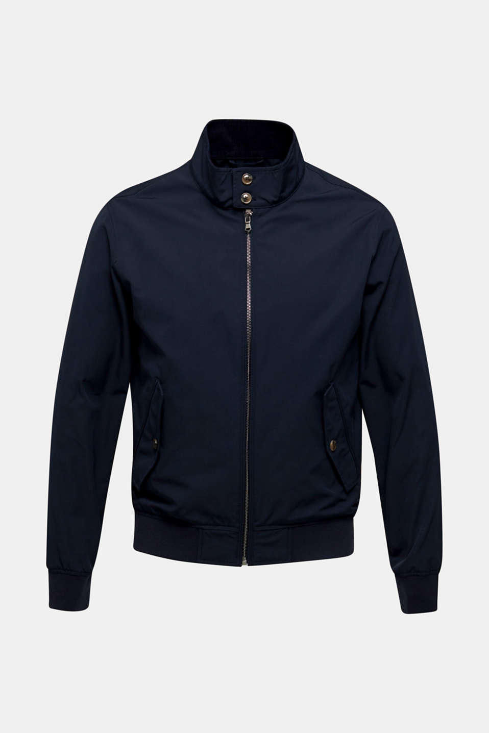 Bomber jacket with checked lining, DARK BLUE, detail image number 6