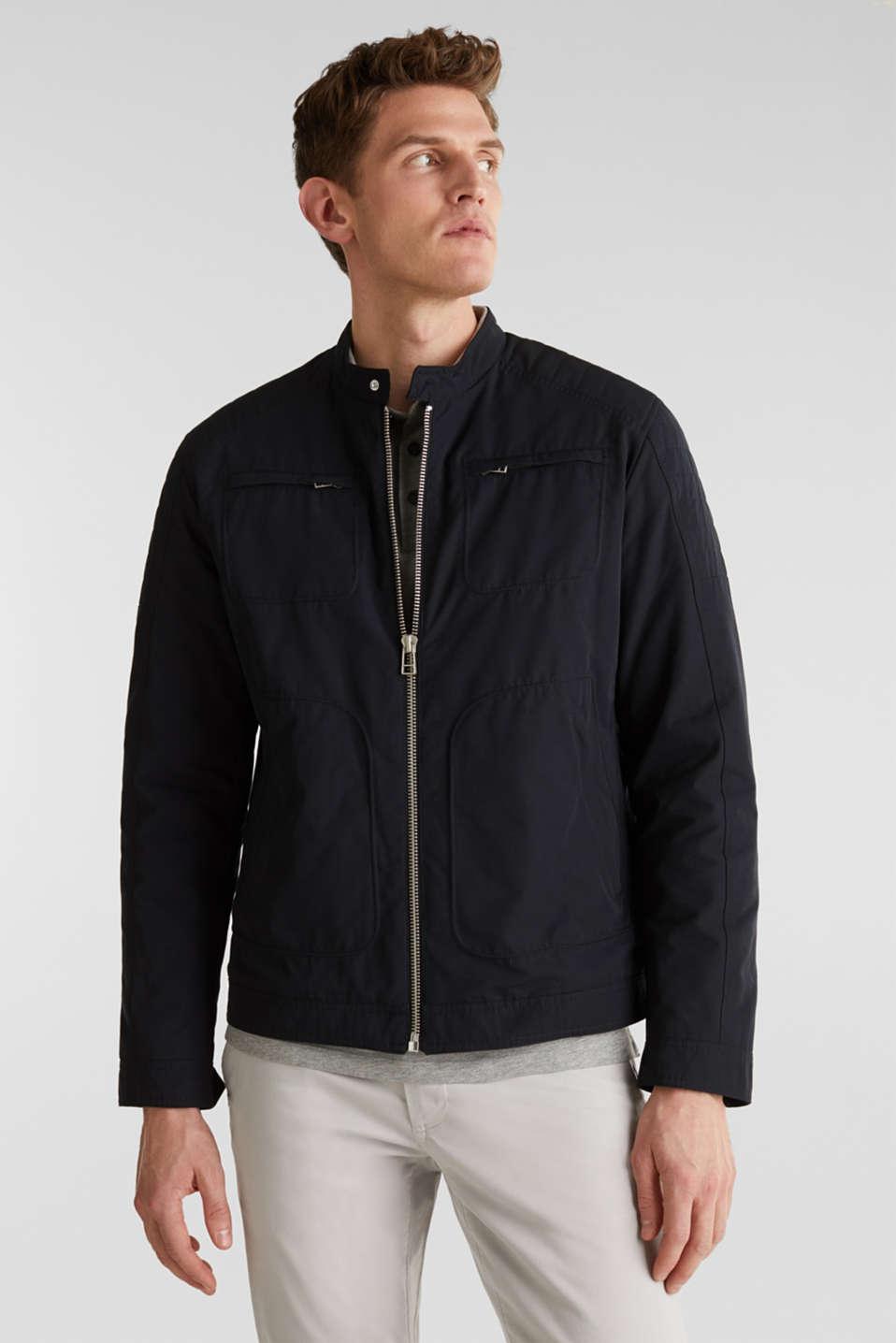 Padded biker jacket, BLACK, detail image number 0
