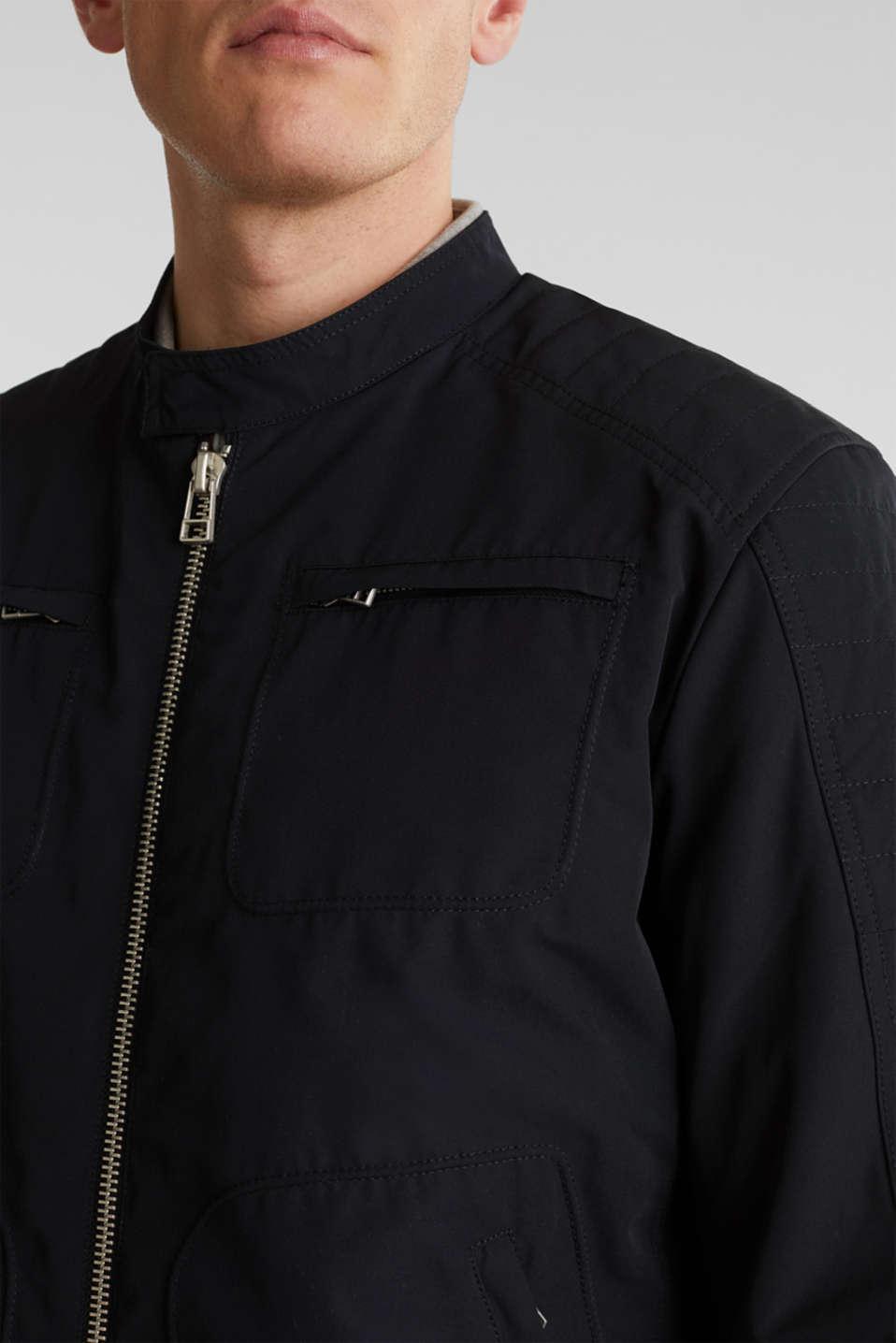 Padded biker jacket, BLACK, detail image number 2