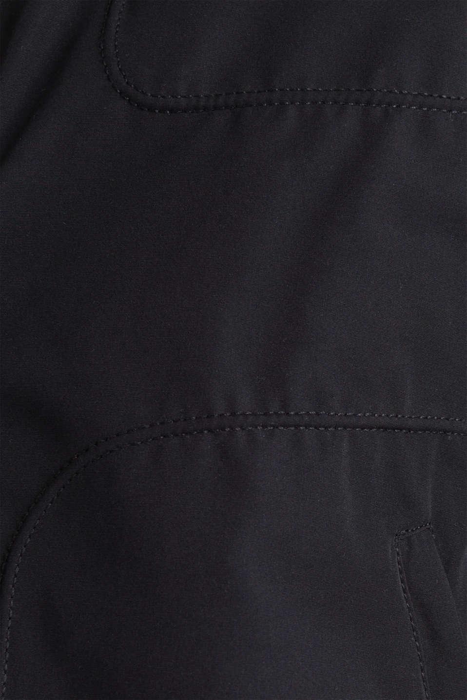 Padded biker jacket, BLACK, detail image number 4