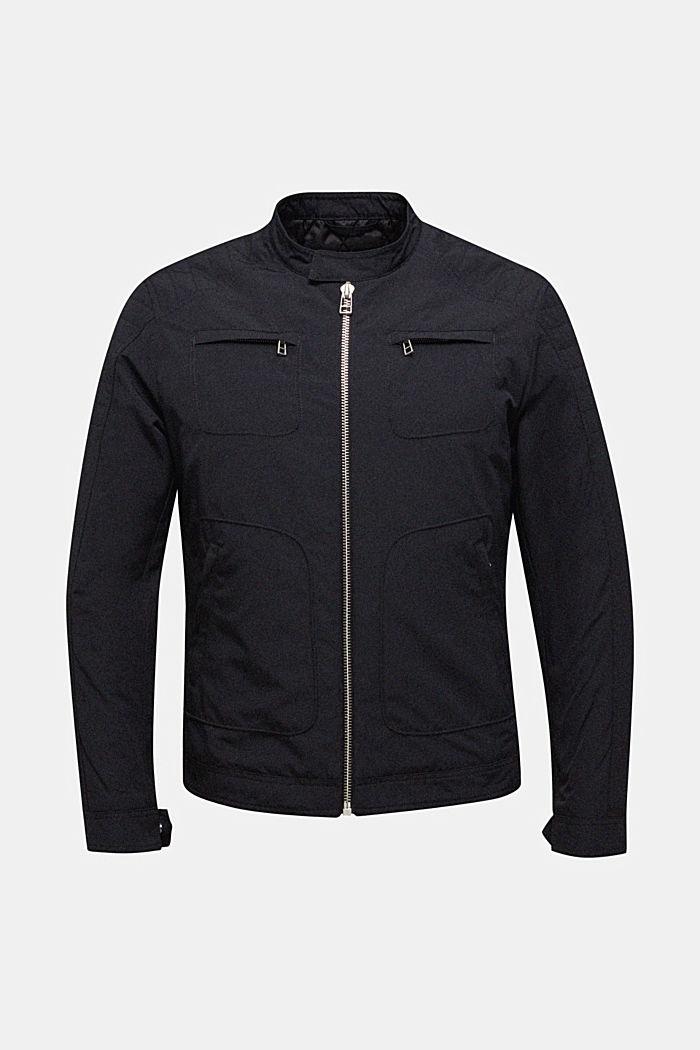Giacca biker imbottita, BLACK, detail image number 0