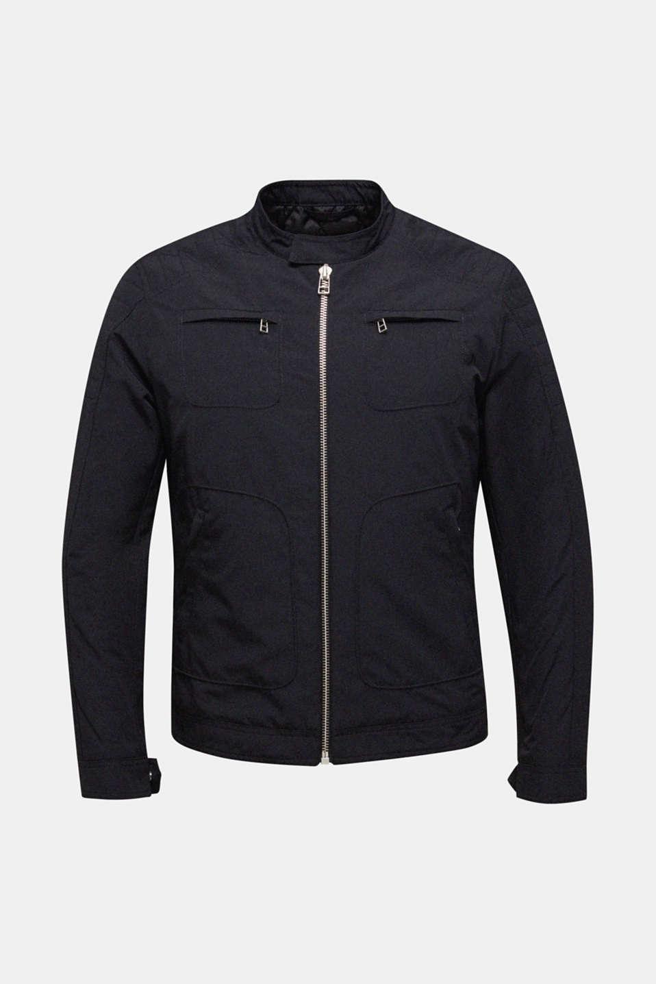 Padded biker jacket, BLACK, detail image number 7