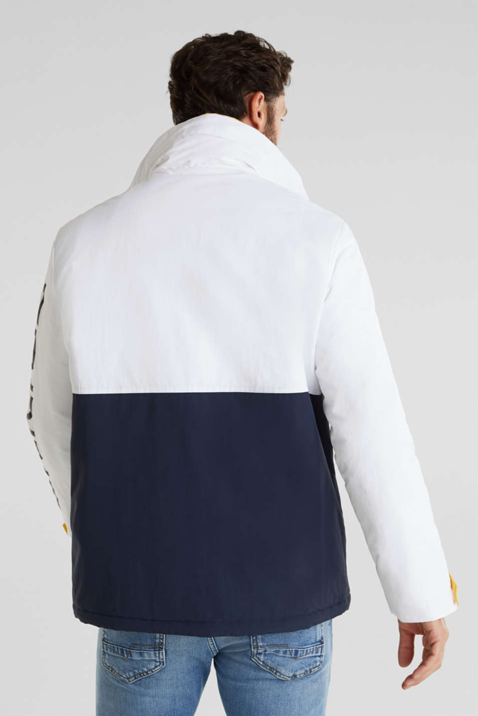 Outdoor jacket with a logo print, WHITE 2, detail image number 3