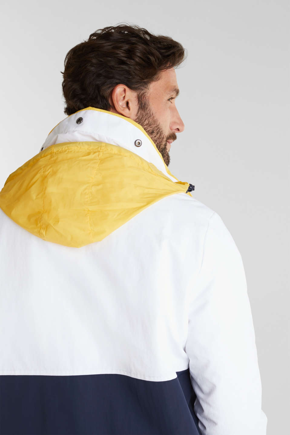 Outdoor jacket with a logo print, WHITE 2, detail image number 6