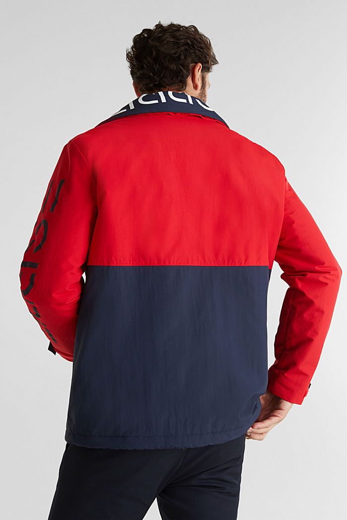 Outdoor jacket with a logo print, RED, detail image number 3