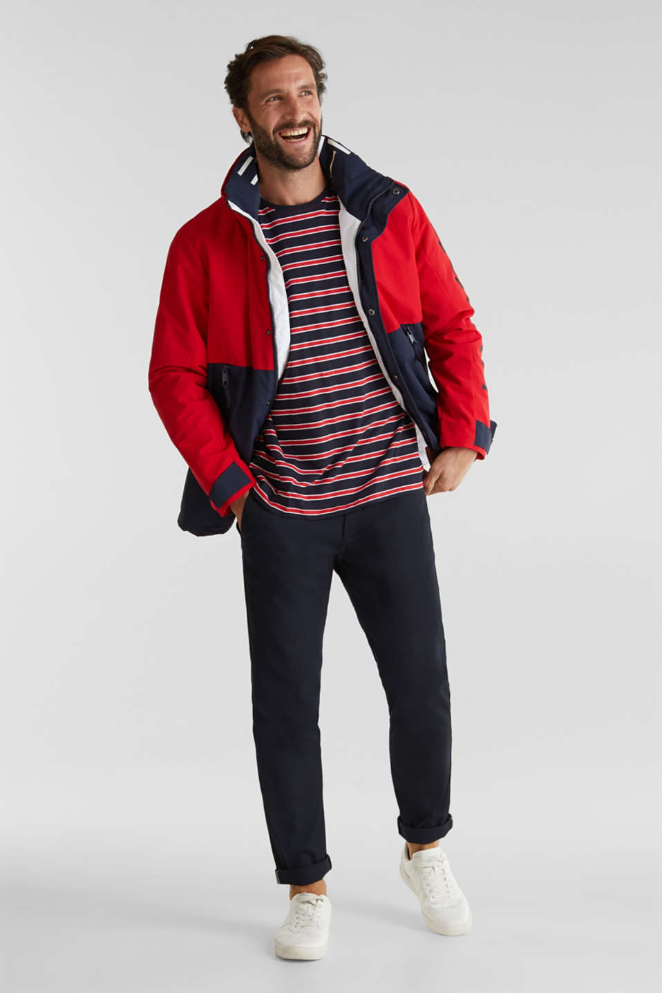 Outdoor jacket with a logo print, RED 2, detail image number 1