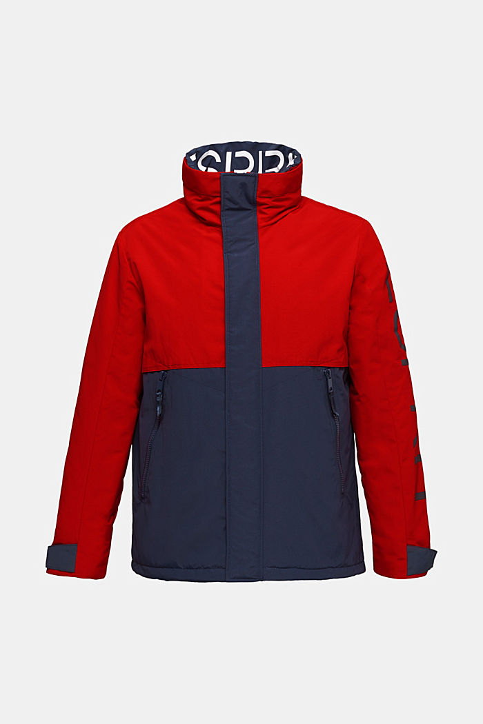 Outdoor jacket with a logo print, RED, detail image number 8