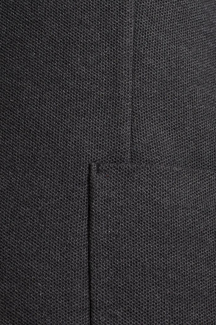 Colbert van 100% katoen, DARK GREY, detail image number 4