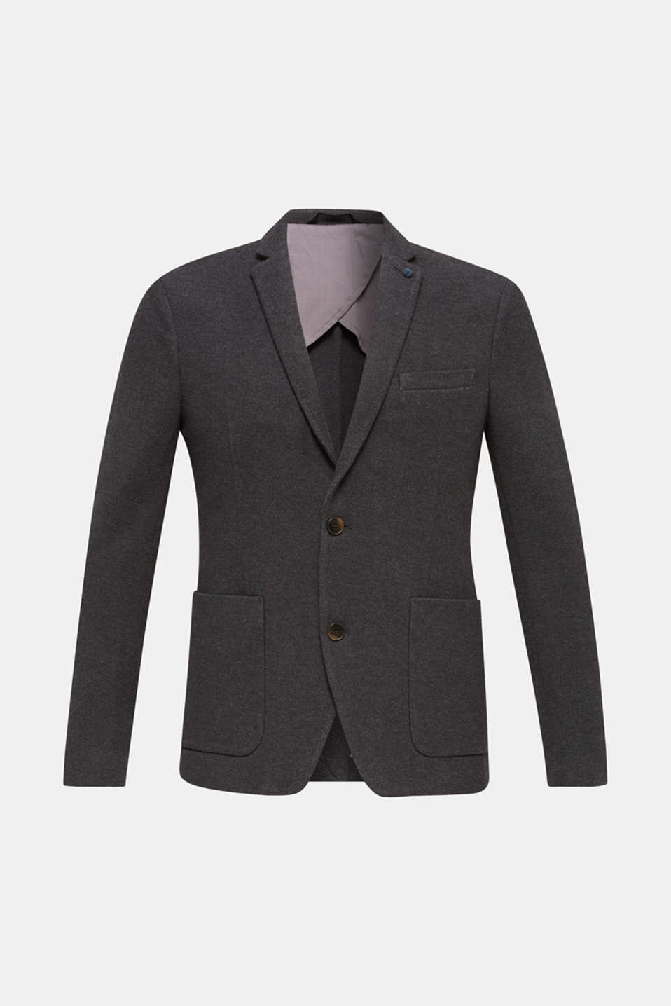 sports jacket made of 100% cotton, DARK GREY 5, detail image number 6