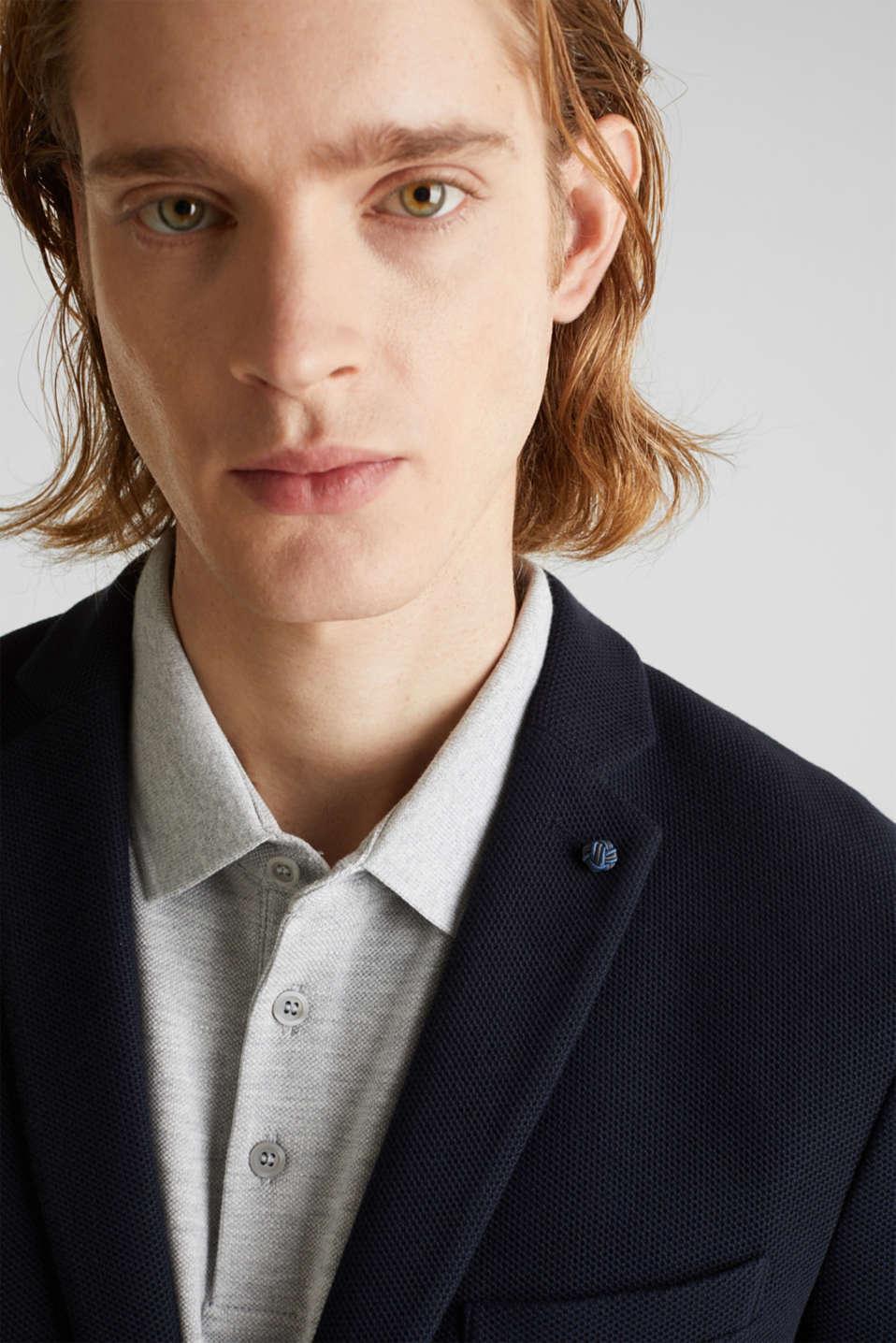 sports jacket made of 100% cotton, DARK BLUE, detail image number 5