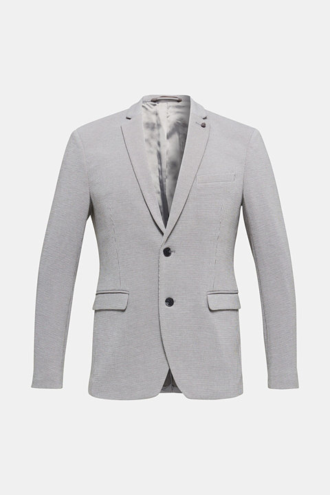 Jersey jacket with a striped texture