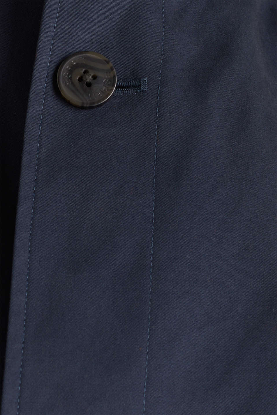 Coat with a stand-up collar, 100% cotton, DARK BLUE, detail image number 3