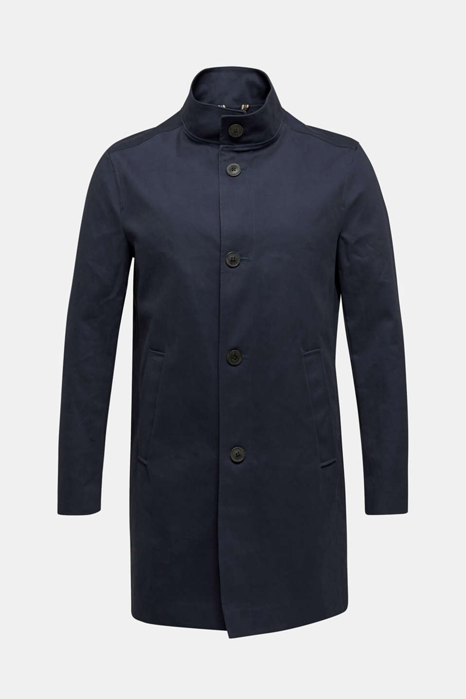 Coat with a stand-up collar, 100% cotton, DARK BLUE, detail image number 5