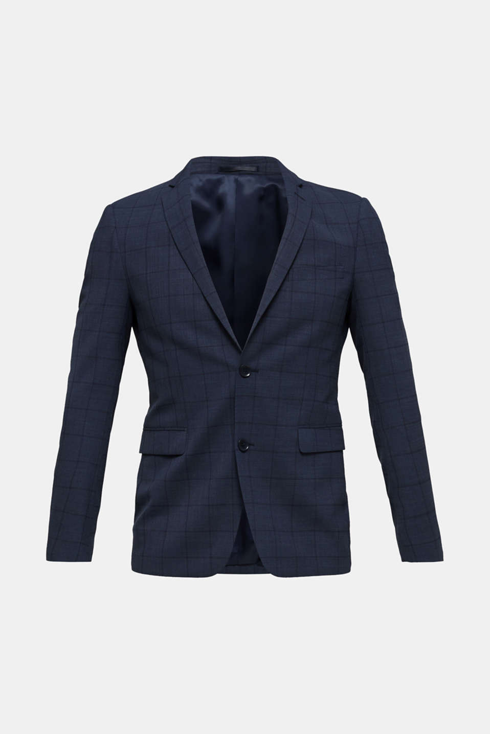 COOLMAX® CHECK mix + match: sports jacket with wool, GREY BLUE 3, detail image number 6
