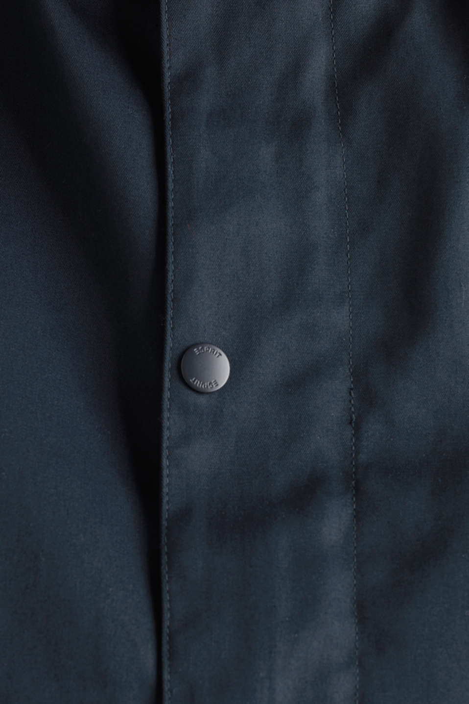 Hooded jacket made of 100% cotton, DARK BLUE, detail image number 2