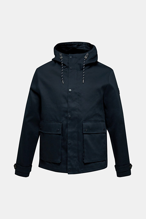 Hooded jacket made of 100% cotton