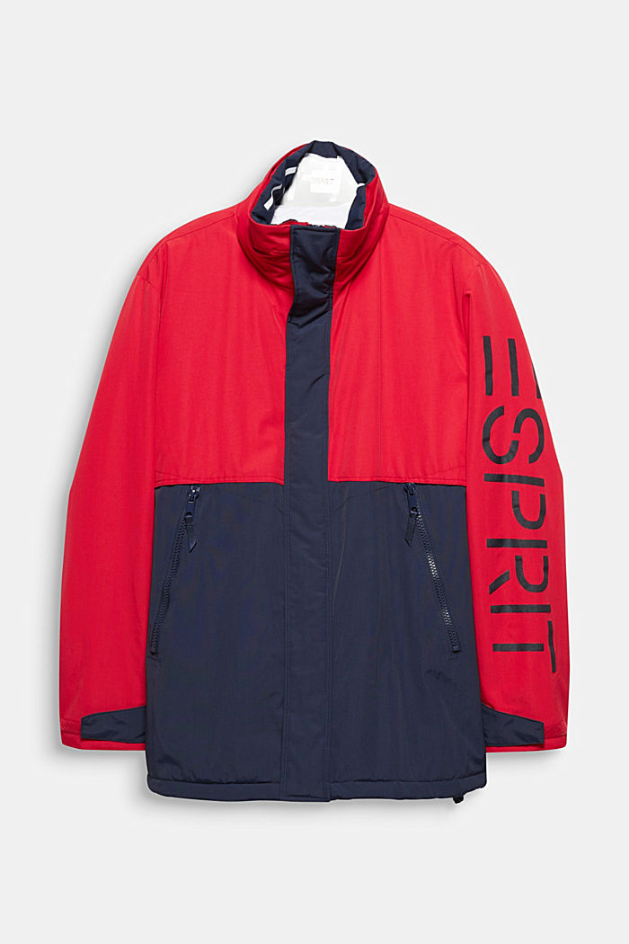 Outdoor jacket with a hood, RED, detail image number 0