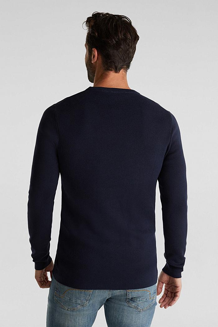 Logo-Sweater aus 100% Baumwolle, NAVY, detail image number 3
