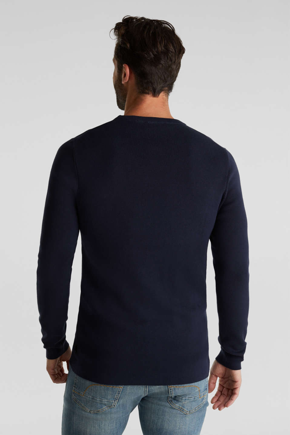 Logo jumper made of 100% cotton, NAVY 2, detail image number 3