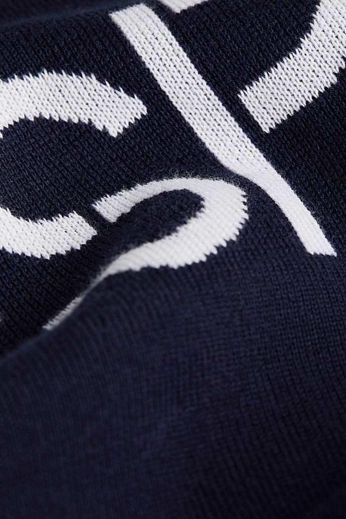 Logo-Sweater aus 100% Baumwolle, NAVY, detail image number 4