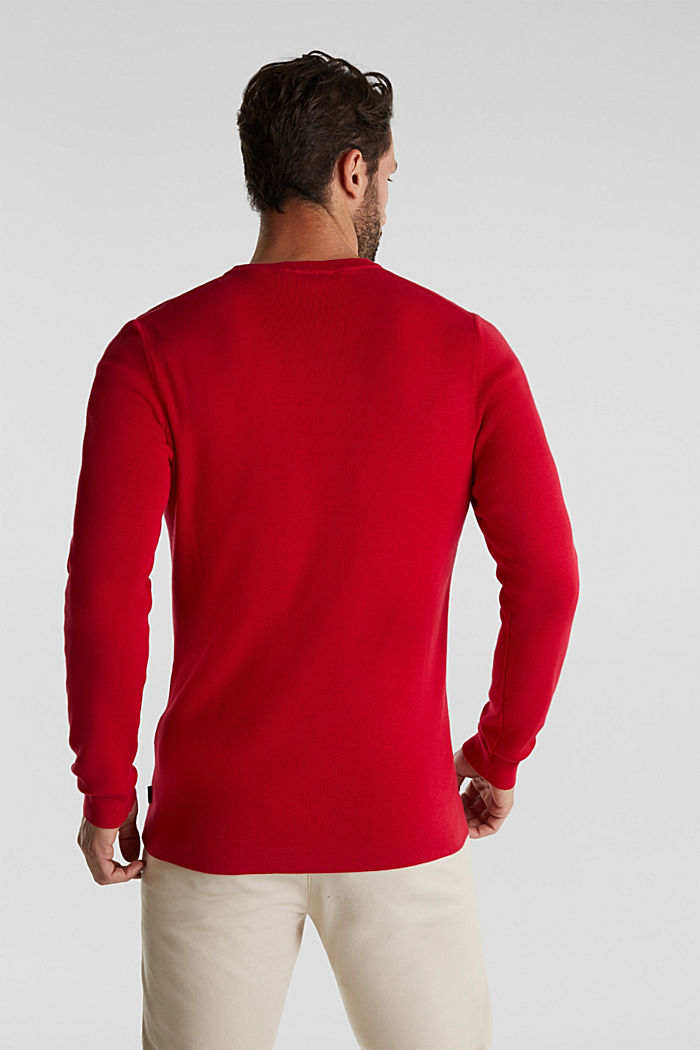 Logo jumper made of 100% cotton, RED, detail image number 3