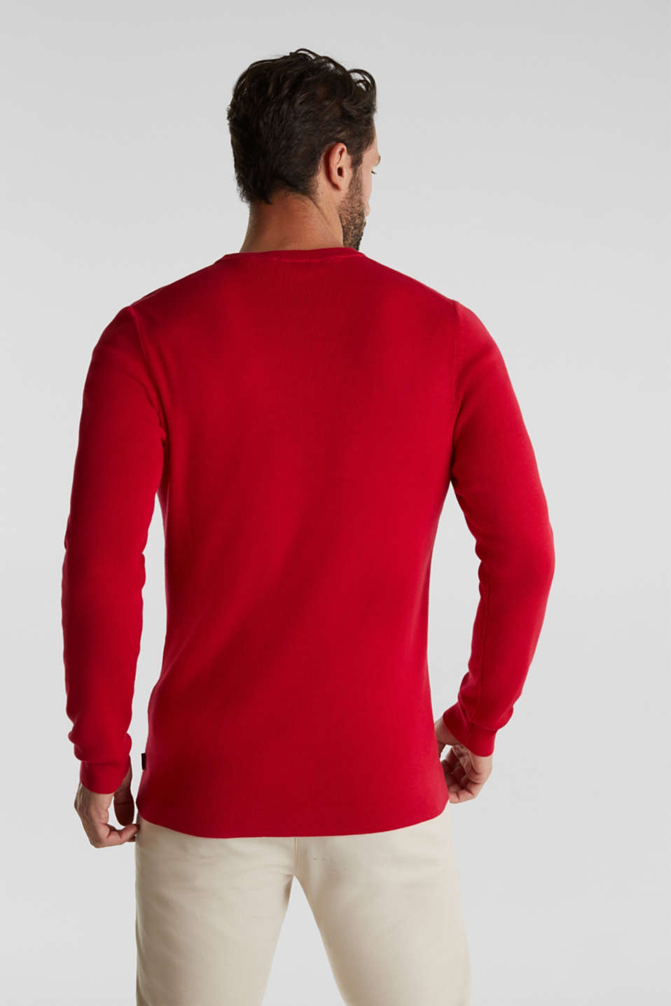 Logo jumper made of 100% cotton, RED 2, detail image number 3