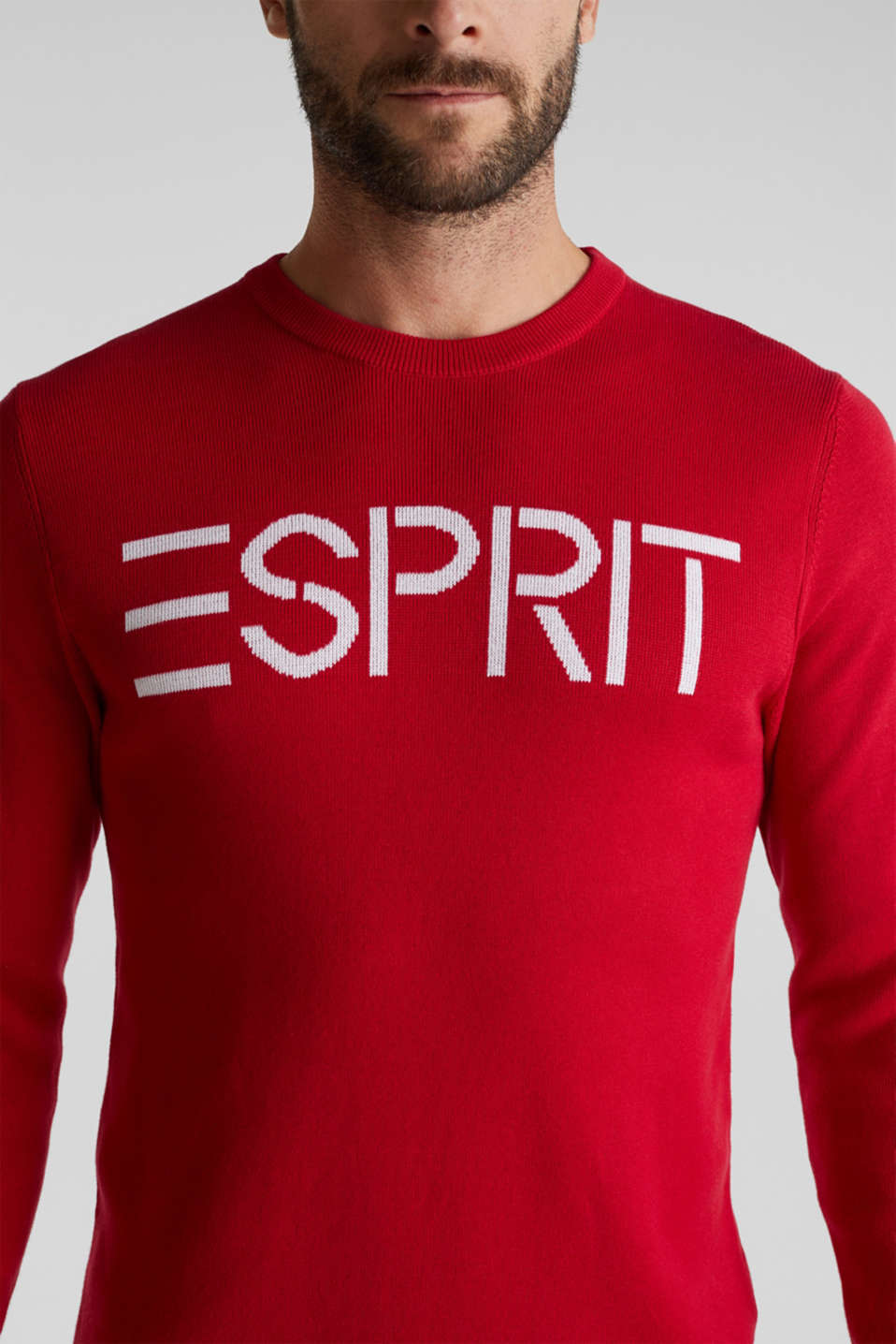 Logo jumper made of 100% cotton, RED 2, detail image number 2