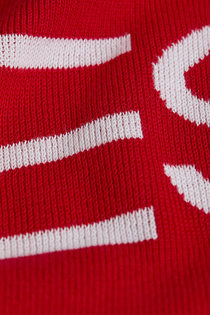 Logo jumper made of 100% cotton, RED, detail image number 4