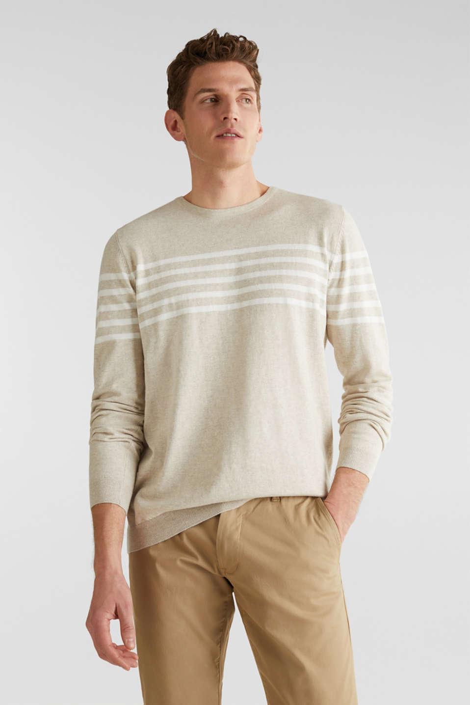 100% cotton jumper, BEIGE 3, detail image number 0