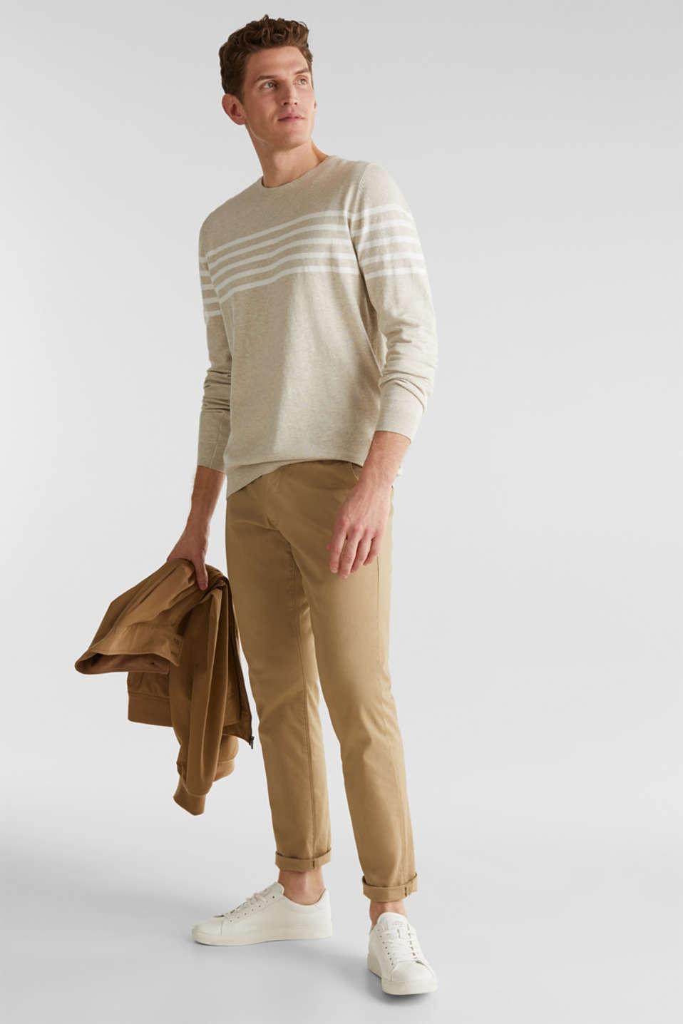 100% cotton jumper, BEIGE 3, detail image number 1