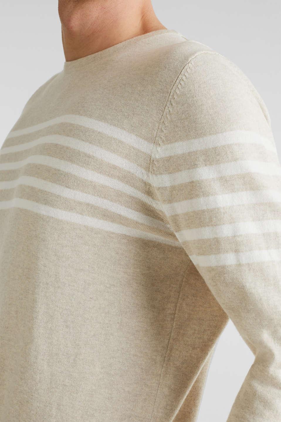 100% cotton jumper, BEIGE 3, detail image number 2