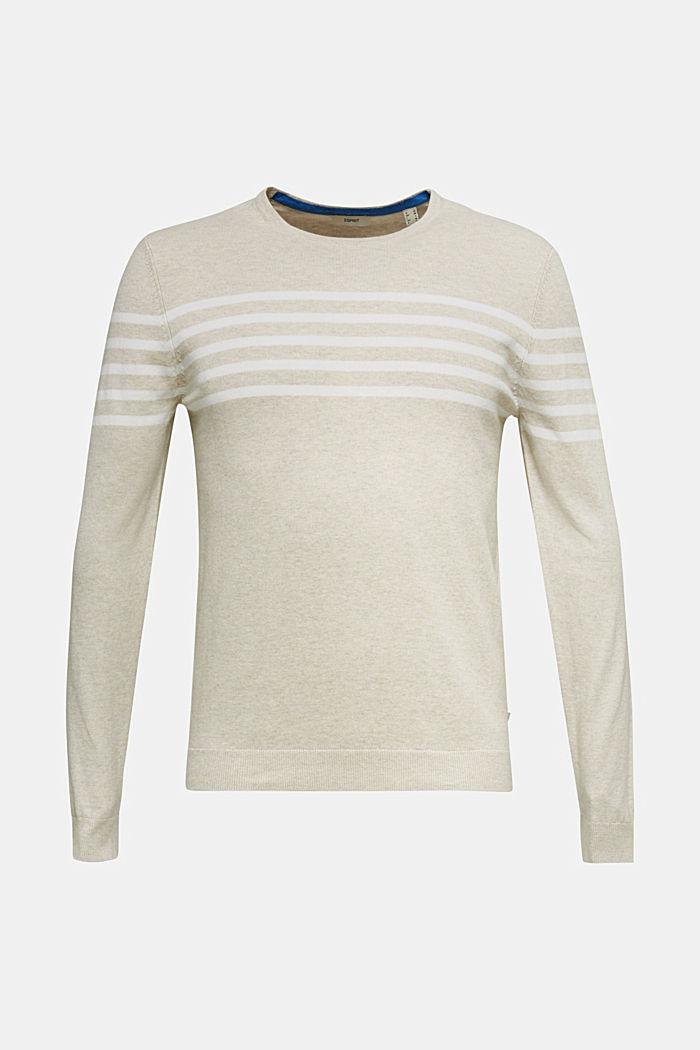 100% cotton jumper, BEIGE, detail image number 0