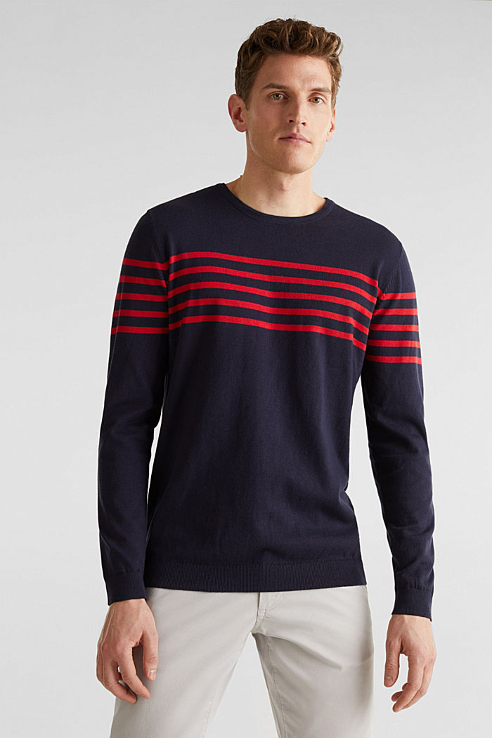 Sweater aus 100% Baumwolle, NAVY, detail image number 0
