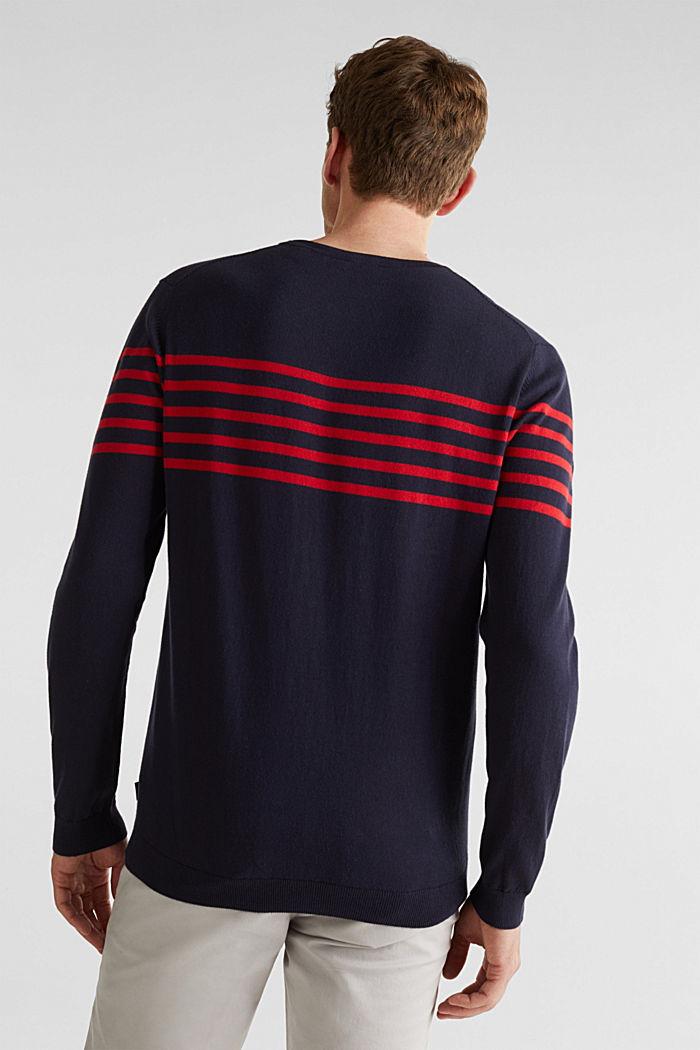 Sweater aus 100% Baumwolle, NAVY, detail image number 2