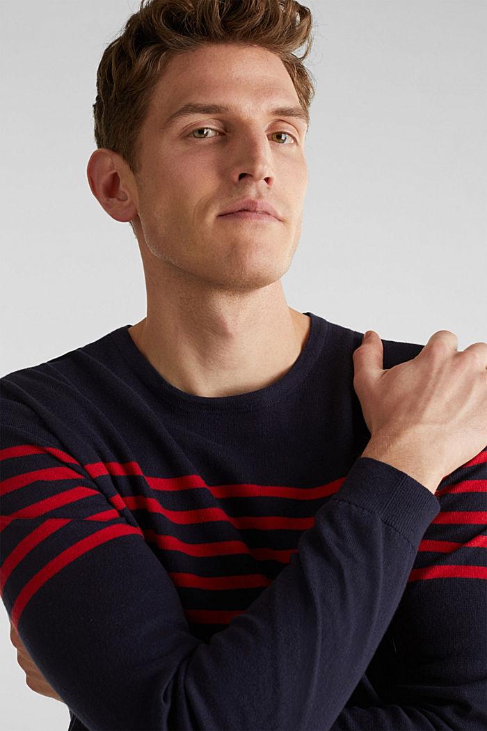 Sweater aus 100% Baumwolle, NAVY, detail image number 4