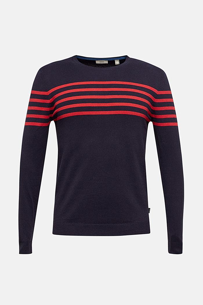 Sweater aus 100% Baumwolle, NAVY, detail image number 6