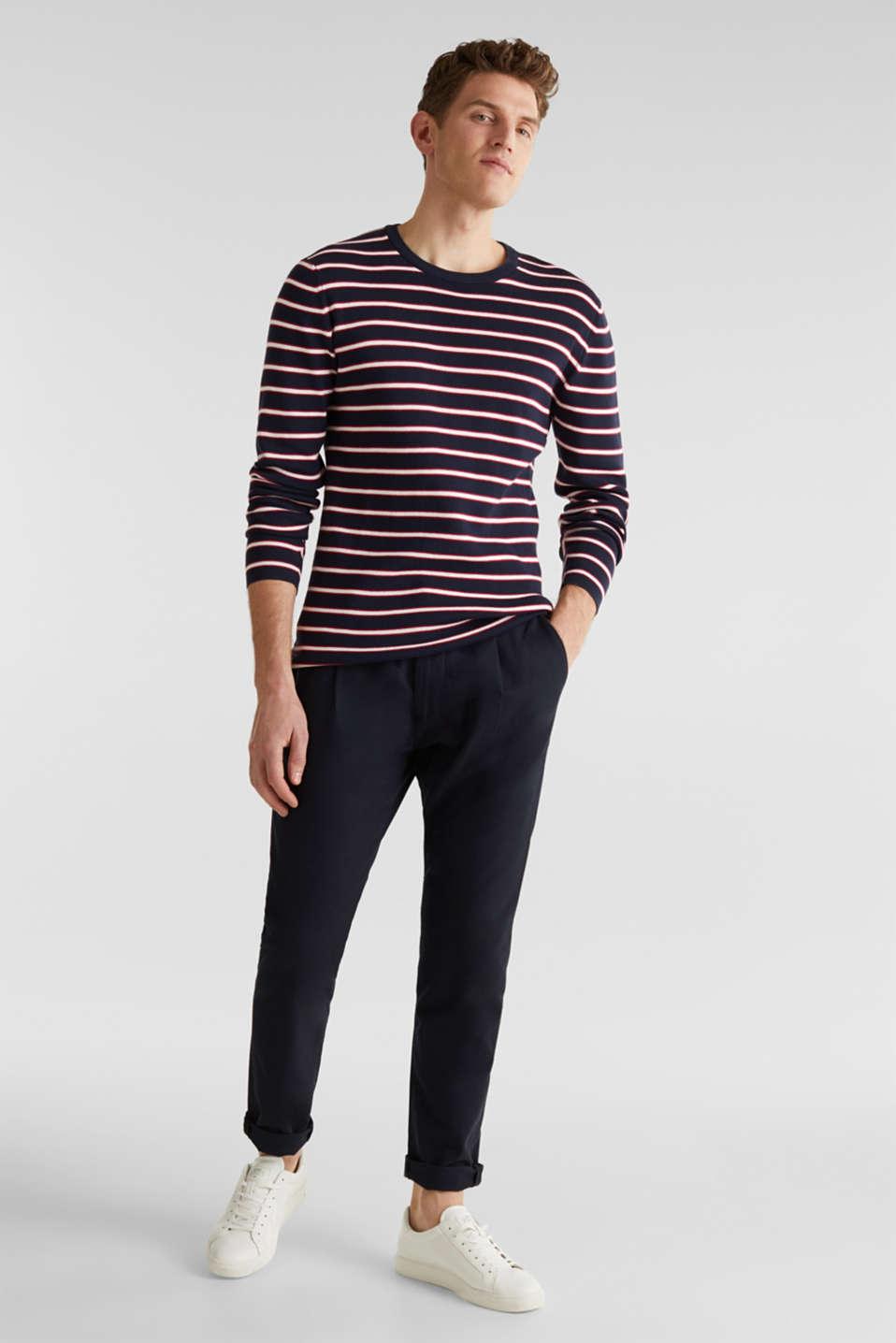 100% cotton jumper, NAVY 3, detail image number 1