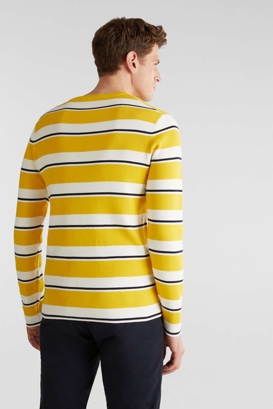 Striped sweatshirt in 100% cotton, YELLOW 3, detail image number 3