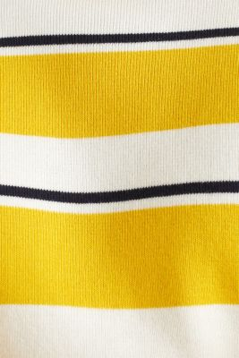 Striped sweatshirt in 100% cotton, YELLOW 3, detail