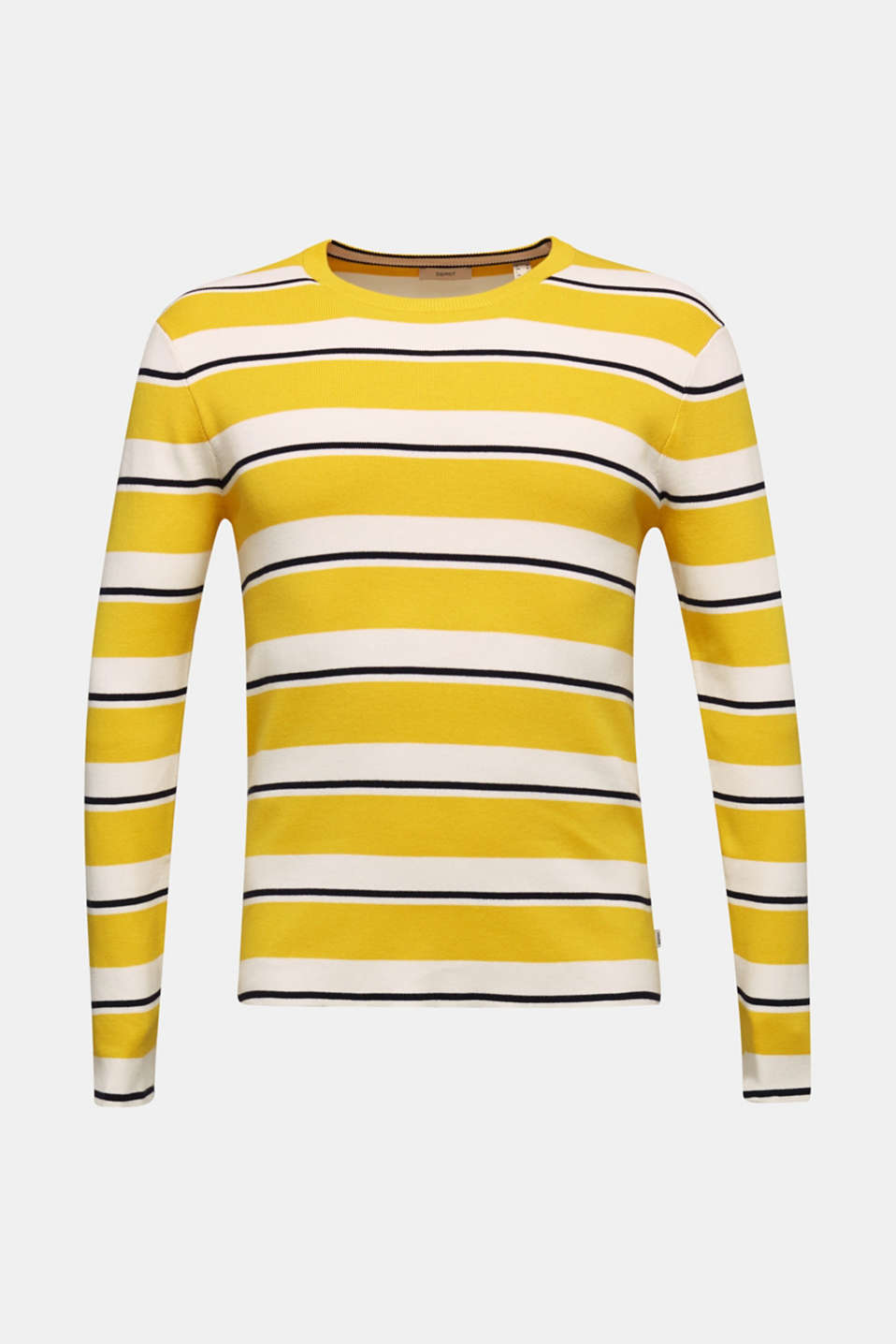 Striped sweatshirt in 100% cotton, YELLOW 3, detail image number 6