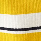 Striped sweatshirt in 100% cotton, YELLOW 3, swatch