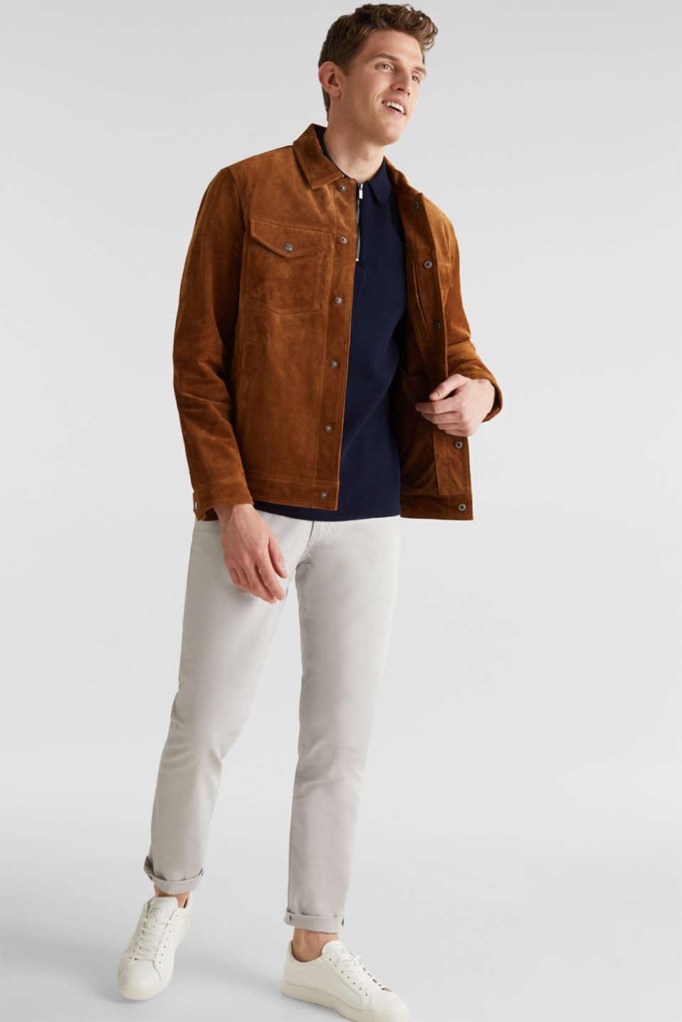 Short-sleeved knit jumper, NAVY, detail image number 1