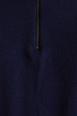 Short-sleeved knit jumper, NAVY, detail