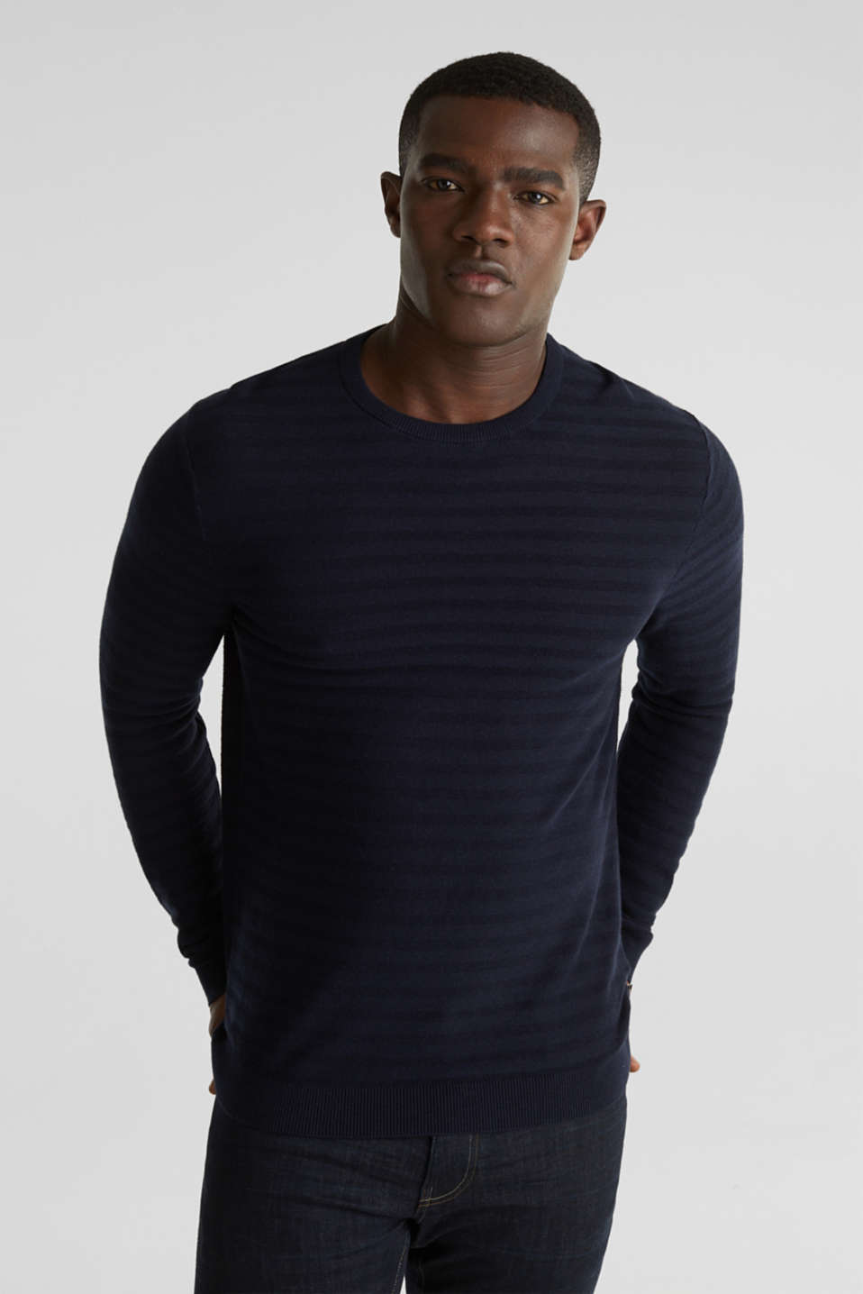 Esprit - Blended silk: textured knit jumper